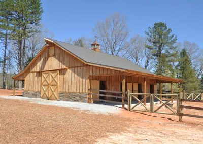 Custom Horse Barn in South Carolina