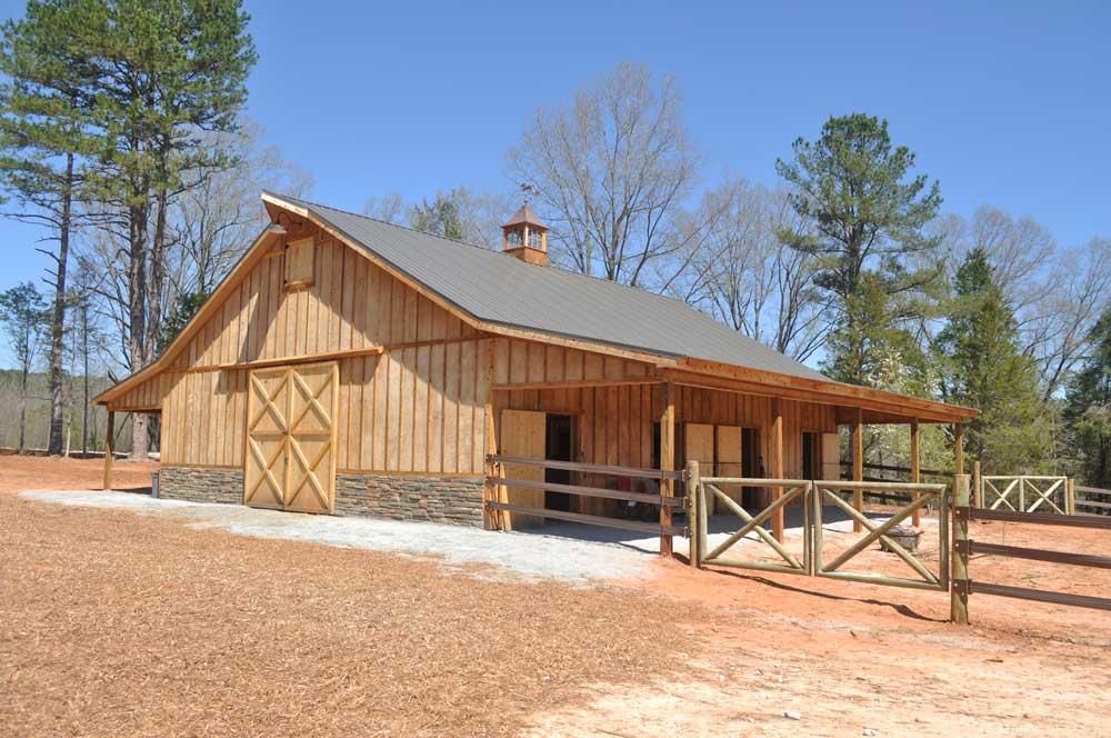 Custom Horse Barn in South Carolina