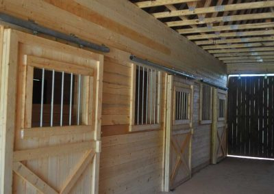 Horse Stalls In Barn